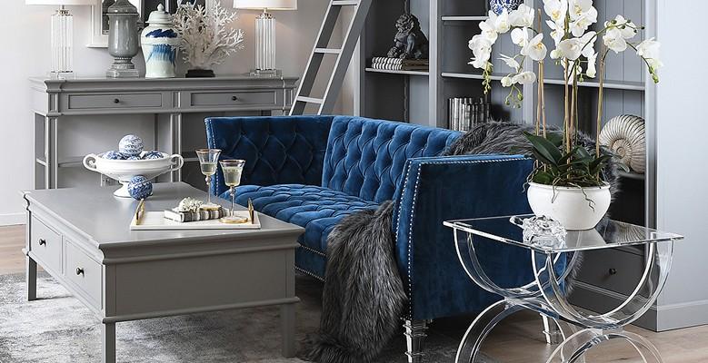 Piękne sofy do wnętrz w stylu Hamptons, Coastal, Eichholtz, Modern Classic oraz New York.